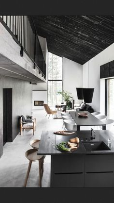 kitchen. simple black & grey