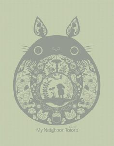 Totoro paper cut-out