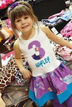 Personalized Frozen Dress Anna Dress Elsa by GraceMadisonDesigns, $31.00 @Kaci Hoskins