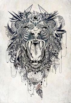 Lion by Feline Zegers - INPRNT