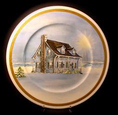 Le porcellane di Morena: Natale.... porcellane dipinte a mano -  hand painted christmas dinnerware - dish ornaments