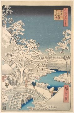 Japanese Art by UTAGAWA KUNISADA => I love snow and the way this painting captures the landscape is just beautiful what do you think ?