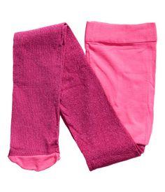glittery tights 7.95 - silver, black, light pink
