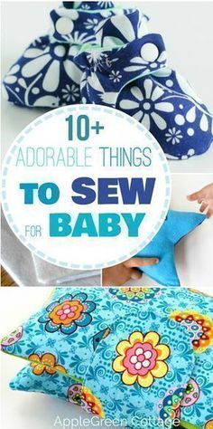 10 adorable things to sew for a baby, easy sewing projects with beginner sewing patterns. Make cute homemade baby shower gifts. #baby #sewing #diy #sewingforbaby #newmom #craft #easysewingprojects #diygifts #simple #pattern #booties #hat #beanie #toys #diytoys #accessories #diaper #fleece #fabric #sewinginspiration #scarf #babybib #bib #bibpattern #homemadegiftsewing #sewingbabygifts #hatsdiysewing #sewingbabyprojects #sewingpatternseasy #sewingprojectsforbaby