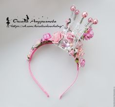 Baby Hair Accessories, Handmade Accessories, Wedding Accessories, Flower Girl Headpiece, Minnie Mouse First Birthday, Princess Party Favors, Cat Scarf, Diy Crown, Hand Embroidery Tutorial