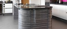 Image result for gloss wood veneer kitchen
