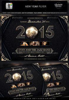 New Year Flyer  — PSD Template #light #city • Download ➝ https://graphicriver.net/item/new-year-flyer/18040834?ref=pxcr