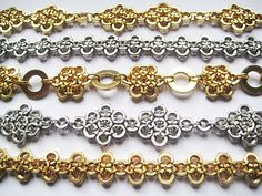 very pretty, solid bracelts.  SO CHEAP if you make your own jump rings!