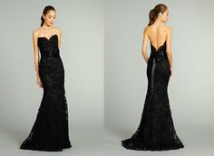 Long Mermaid Black Lace Evening Cocktail Formal Prom Party Dresses Wedding Gown | eBay