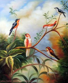 Painting: Song Birds In Tree Finch Sparrow 20X24 Oil On Canvas Avian Painting Stretched https://rover.ebay.com/rover/1/711-53200-19255-0/1?ff3=2&toolid=10044&campid=5337819815&customid=&lgeo=1&vectorid=229466&item=232095778882 (via @zedign)