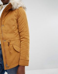 Only | Only Short Parka Jacket with Faux Fur Hood
