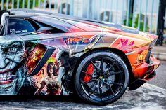 Lamborghini Aventador Roadster with Superhero Wrap