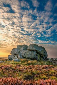 Ilkley Moor, West Yorkshire, England                                                                                                                                                                                 More