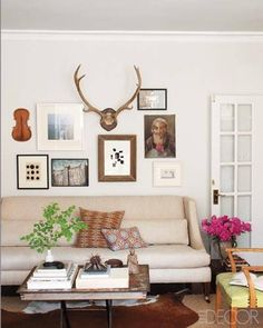 The living room of the Chicago apartment of Devin Kirk, vice president of merchandising for Jayson Home, and Chad Idol.