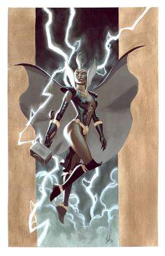 """Asgardian Storm"" Art by Jorge Molina — GeekTyrant"