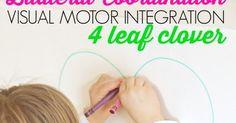 Sugar Aunts: Bilateral Coordination Visual Motor Integration Clover