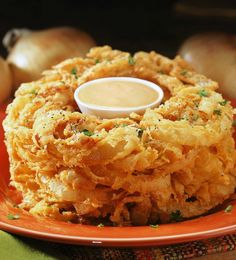 Tony Roma's Corn Fritter Casserole - What2Cook Onion Loaf, Onion Rings, Fried Onions, Mashed Potatoes, Spanish Onion, Fries, Bbq, Menu, Bread