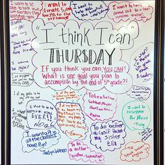 Today we shared a goal we wish to accomplish by the end of 5th grade with I think I can Thursday!