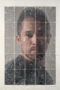 Germán Gómez, Duo IX, 2013, C-print, paper and varnish, 35 7/16 x 23 5/8 in.  #BridgetteMayerGallery #GermanGomez