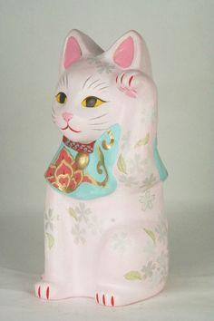 Maneki Neko, Cat Art, Piggy Bank, Kawaii, Cats, Gatos, Money Box, Kawaii Cute, Kitty Cats