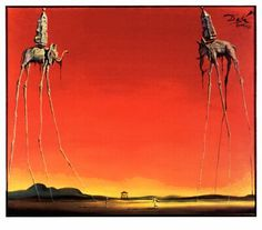 "Salvador Dali ""The Elephants""-  probably my favorite tattoo"