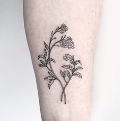 minimal outline tattoo