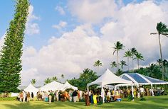 tents at Kauikeolani Wedding Events, Weddings, Kauai, Tents, Happily Ever After, Dolores Park, Patio, Outdoor Decor, Travel