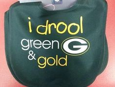 "NFL Green Bay Packers Velcro Closure Baby Bib ""I Drool Green and Gold"""