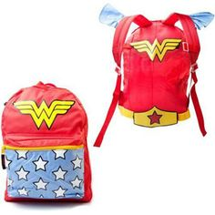 You'll be flying about like a true Patriot in no time when you strap yourself into our licensed DC Comics Wonder Woman backpack.