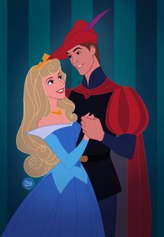 Aurora and phillip disney sleeping beauty, sleeping beauty prince, walt disney, disney pixar Disney Pixar, Arte Disney, Disney And Dreamworks, Disney Animation, Disney Magic, Disney Art, Disney Movies, Disney Characters, Non Disney Princesses