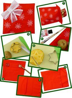 Mit dieser selbstgemachten Verpackung wird Ihr Geschenk zu einem echten Blickfang unterm Christbaum.