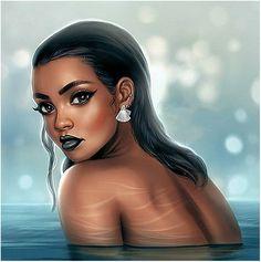 Rihanna Digital Painting.. ❤️ IG: TheHeartShow       SC: Beauty_Jasmine       Pintrest:HeartBreaker94 ❤️