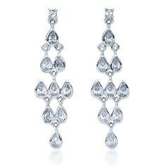 Cascade Drop Earrings with Cubic Zirconia