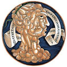 Phallic-Head Plate, 1536. Gubbio, Workshop of Maestro Giorgio Andreoli