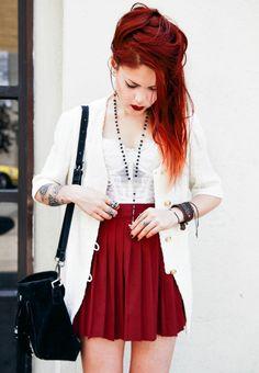 Bustier – Vintage / same here Skirt- She Inside Bag- Wink and Winn / similar Shoes- Steve Madden