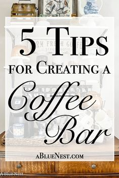 We've had a coffee bar in our kitchen for 6 months now and its been a game changer. Today I'm sharing my 5 tips for creating a coffee bar. Coffee Bars In Kitchen, Coffee Bar Home, Coffee Store, Coffee Bar Ideas, Coffee Bar Station, Home Coffee Stations, Tea Station, Coffee Nook, Coffee Corner