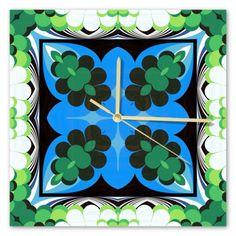 Clock Samba, Sunday, Clock, Retro, Frame, Wall, Home Decor, Watch, Picture Frame