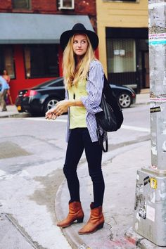 New York street style. No hat for me!
