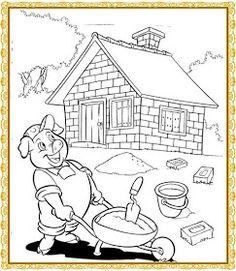 "Profª: Ivani Ferreira: Plano de aula""Os Três Porquinhos""/maternal 2 Toddler Learning Activities, Preschool Activities, Coloring Pages For Kids, Coloring Books, Yoga Jobs, Nursery Rymes, Three Little Pigs Story, Teaching Kindergarten, Preschool Worksheets"