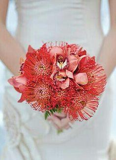 Mens no Ride-up Boxer Briefs,Painted Protea Floral