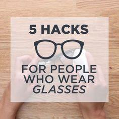 DIY Life Hacks & Crafts : 5 Easy Hacks for People Who Wear Glasses