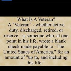 """Tell them """"thank you,"""" when you see a Veteran!!!"""