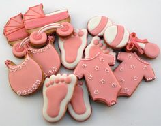 Decorated Cookies - Baby Shower - Baby Girl Repinned By:#TheCookieCutterCompany