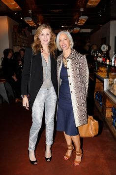 ACNE Studios NYC Dinner - Virginie Mouzat and Linda Fargo