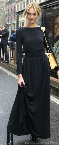 Black maxi--I'd add a belt...maybe leopard, or just a solid, bright color..cute scarf or layered necklaces..