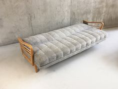 Danish Mid Century Grey Velour Sofa Bed with Beech Frame Retro Furniture, Antique Furniture, Velour Sofa, Sofa Bed, Couch, Mid Century Furniture, Danish, 1970s, Beds