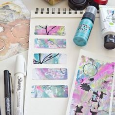 Create your own mixed-media stickers with tutorial by Christen Hammons.