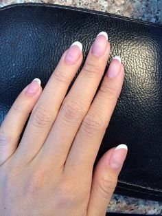 french acrylic nails round - Google Search