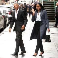 The Obamas looking like out in NYC today! #Leadership #TRAVEL #BIZBoost