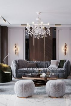 A truly magnificent villa, located in one of the most coveted and fast-growing environments in the world, the grandiose Riyadh. Best Interior, Interior Design, Classic Living Room, Center Table, Modern Classic, Design Projects, House Inspirations, Riyadh, Fast Growing